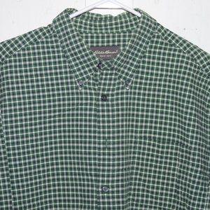 Eddie bauer button up mens shirt size XL J686